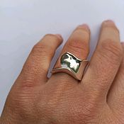 Украшения handmade. Livemaster - original item Large Wave ring, Boho style. Silver 925 sample. Handmade.