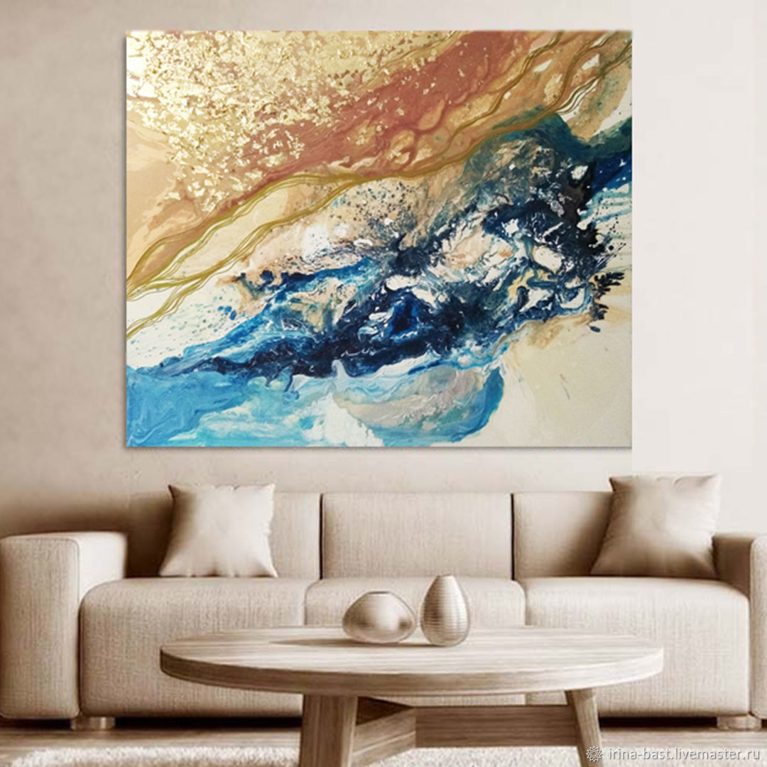 Interior painting in the style of abstraction When the sky fell in the sea, Pictures, St. Petersburg,  Фото №1