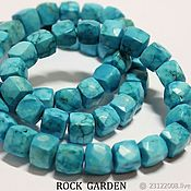 Материалы для творчества handmade. Livemaster - original item Natural turquoise, cube cut-7-9mm (100). Handmade.