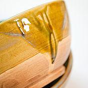 Посуда ручной работы. Ярмарка Мастеров - ручная работа Песочный салатник. Handmade.