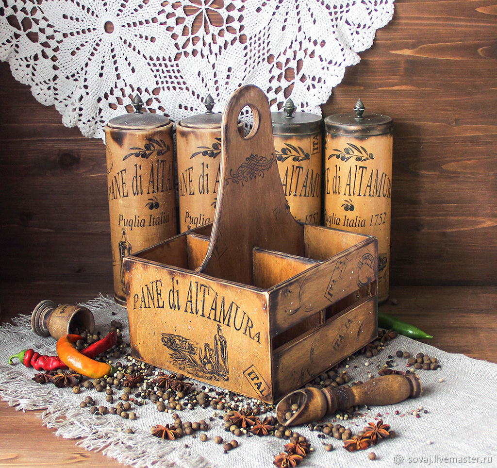 Box for spices ' the Legend of Puglia', Utensils, ,  Фото №1