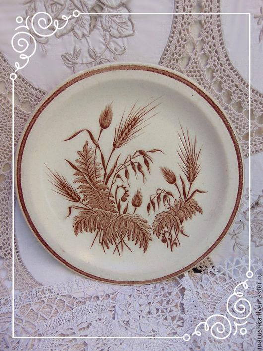 Винтажная посуда. Ярмарка Мастеров - ручная работа. Купить Английские керамические тарелки в стиле кантри. Handmade. Коричневый, churchill