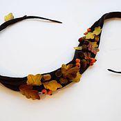 Аксессуары ручной работы. Ярмарка Мастеров - ручная работа Пояс краски осени. Handmade.