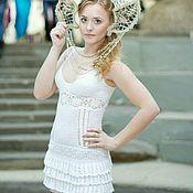 Одежда ручной работы. Ярмарка Мастеров - ручная работа Платье вязаное крючком 100%хлопок. Handmade.