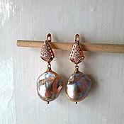 Украшения handmade. Livemaster - original item Tropical fruit Baroque pearl earrings. Handmade.