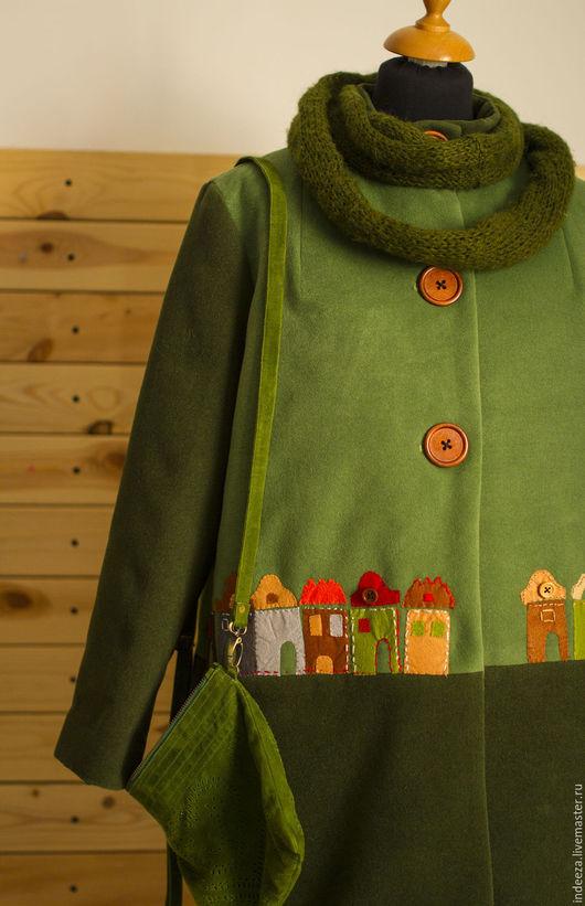 """Верхняя одежда ручной работы. Ярмарка Мастеров - ручная работа. Купить Пальто """" Сказки старого города"""". Handmade. Зеленый"""