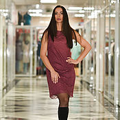 Одежда handmade. Livemaster - original item Lace dress Bordeaux. Handmade.