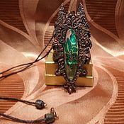Подарки к праздникам ручной работы. Ярмарка Мастеров - ручная работа кулон в виде силуэта собаки в стиле готика или древний египет. Handmade.