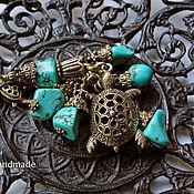 Аксессуары ручной работы. Ярмарка Мастеров - ручная работа Брелок для ключей, украшение на сумку Морская Черепашка. Handmade.