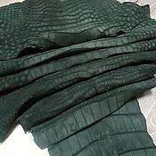 Материалы для творчества handmade. Livemaster - original item Crocodile skin, nubuck clothing, available!. Handmade.
