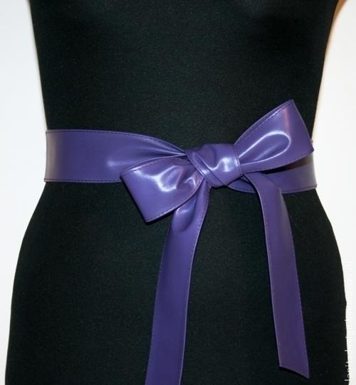 """Пояса, ремни ручной работы. Кожаный пояс """"Mini Violet"""". Lanita Design. Ярмарка Мастеров."""