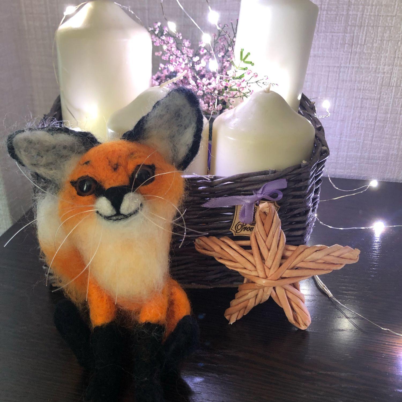 Игрушка из шерсти лисица, Войлочная игрушка, Новосибирск,  Фото №1