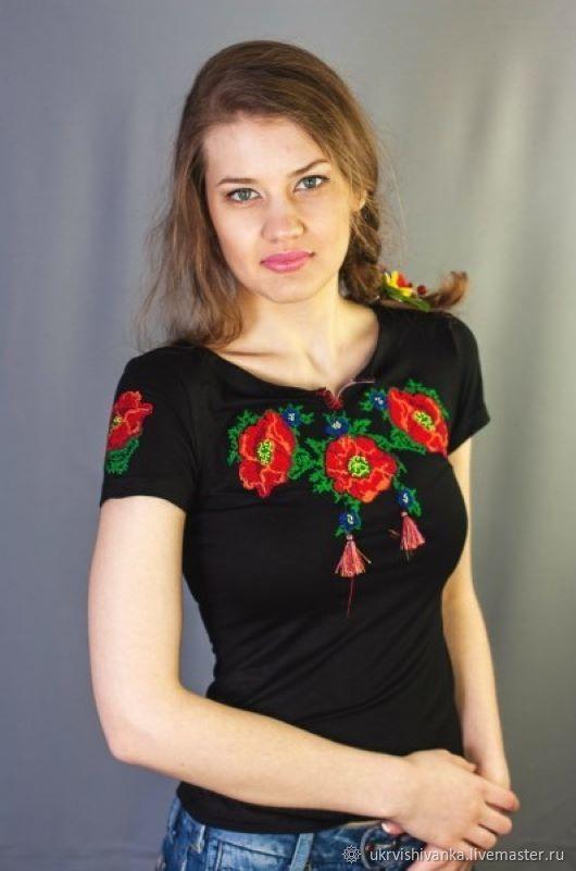 """Футболка с вышивкой """"8046 кв"""", Футболки майки, Львов, Фото №1"""