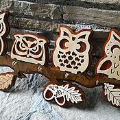 """Ключницы ручной работы. Ярмарка Мастеров - ручная работа Ключница """"Совушки на ветке"""". Handmade."""