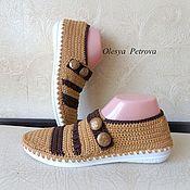 Обувь ручной работы handmade. Livemaster - original item Knitted booties. Handmade.