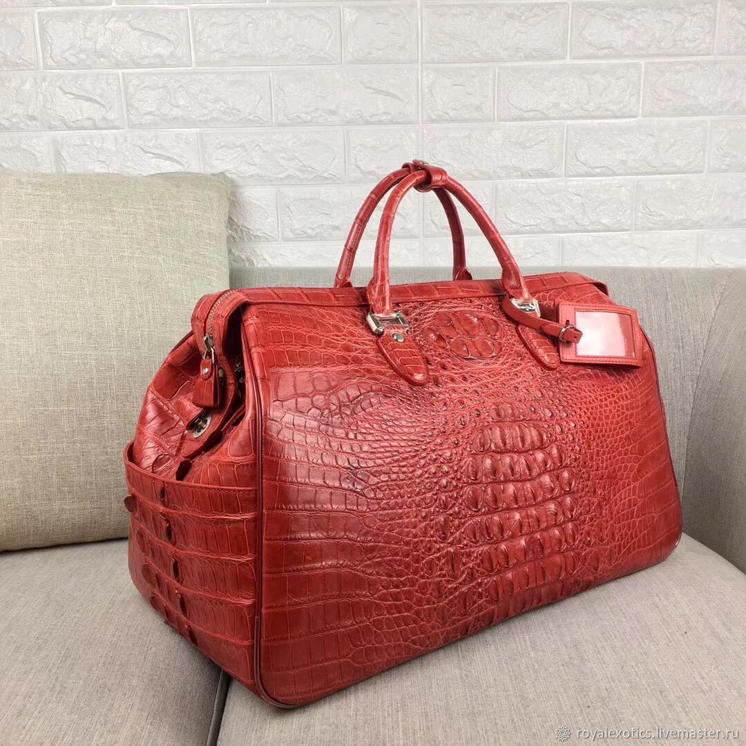 Дорожная/спортивная сумка из рельефной части кожи крокодила, Спортивная сумка, Тосно,  Фото №1