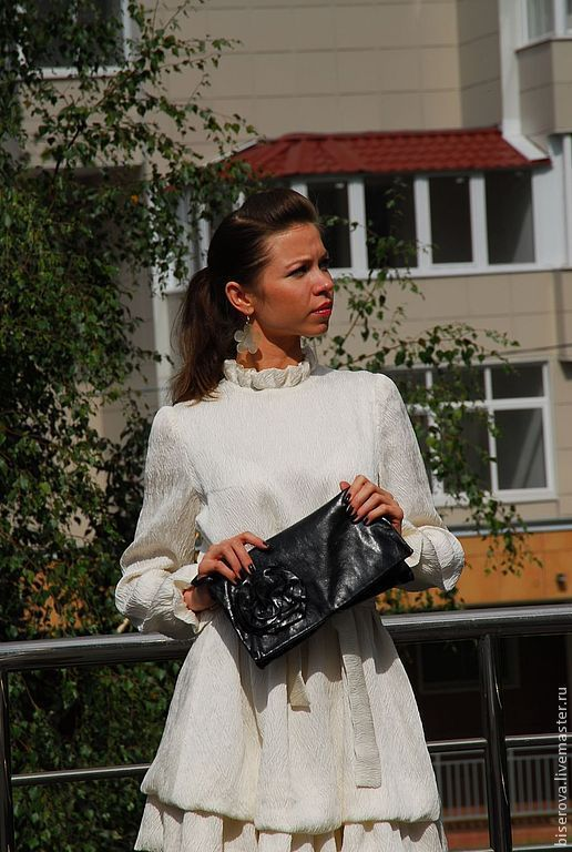 Платья ручной работы. Ярмарка Мастеров - ручная работа. Купить Мини платье шелковое. Handmade. Белый, платье для беременных