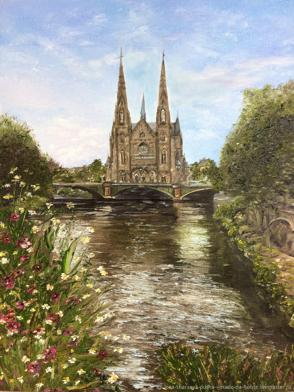 Картина маслом Франция. Страсбург, Картины, Чита, Фото №1