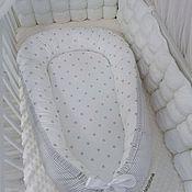 Работы для детей, ручной работы. Ярмарка Мастеров - ручная работа Babynest  кокон гнездышко для новорожденных. Handmade.