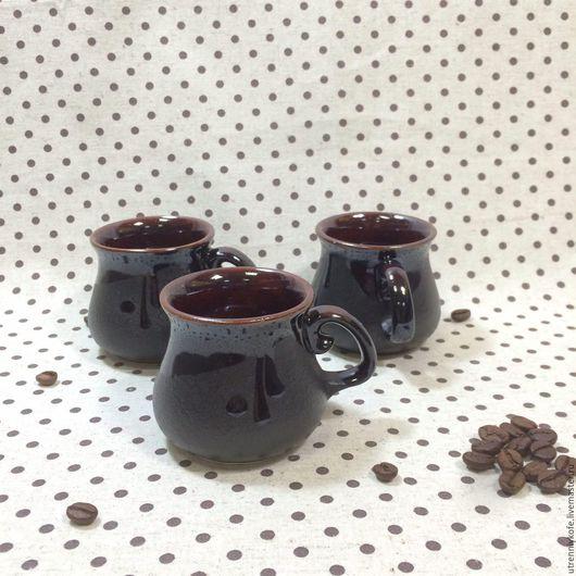 Кружки и чашки ручной работы. Ярмарка Мастеров - ручная работа. Купить Кружка ручной работы маленькая для кофе. Handmade. Черный