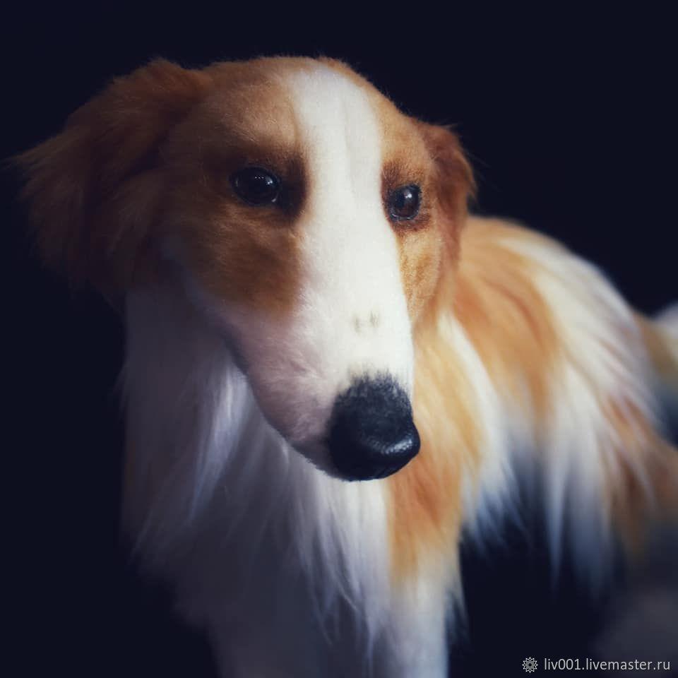 Собака русская борзая реалистичная игрушка, Мягкие игрушки, Ижевск,  Фото №1
