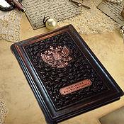 """Канцелярские товары handmade. Livemaster - original item Ежедневник из натуральной кожи """"Ваше величество"""", коричневый. Handmade."""