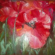 Pictures handmade. Livemaster - original item Oil painting flowers 50/60