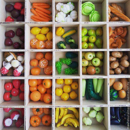 Миниатюра ручной работы. Ярмарка Мастеров - ручная работа. Купить Овощи-фрукты из полимерной глины. Handmade. Овощи, миниатюра