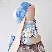 Куклы и игрушки ручной работы. Ярмарка Мастеров - ручная работа Зайка текстильная Eveline / Эвелин. Handmade.