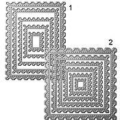 Ножи для вырубки Марки с имитацией строчки (марки)