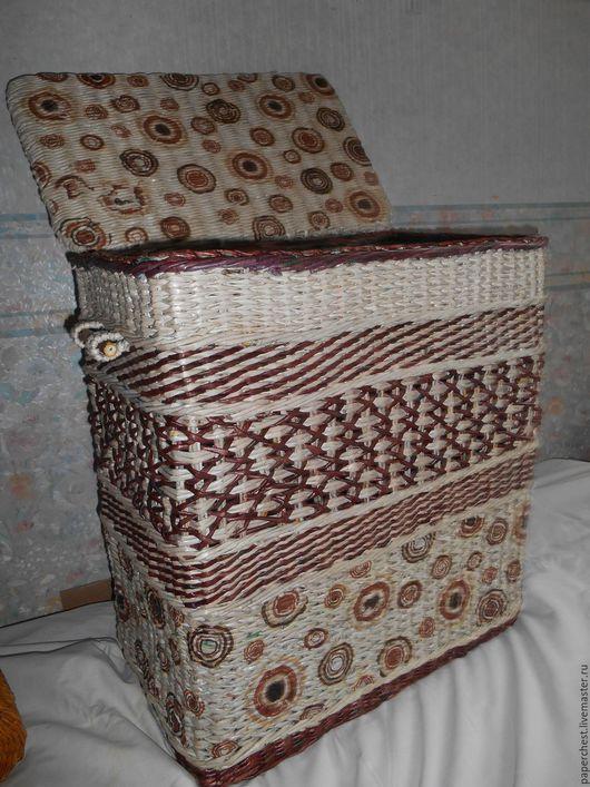Ванная комната ручной работы. Ярмарка Мастеров - ручная работа. Купить корзина для белья плетеная. Handmade. Комбинированный, плетение из бумаги
