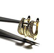 Материалы для творчества ручной работы. Ярмарка Мастеров - ручная работа Швензы со стразами английский замок с позолотой 167. Handmade.