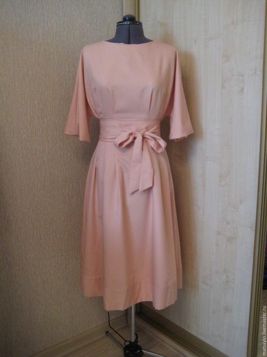 """Платья ручной работы. Ярмарка Мастеров - ручная работа. Купить Платье """"Персик"""". Handmade. Бежевый, Платье нарядное, платье на свадьбу"""