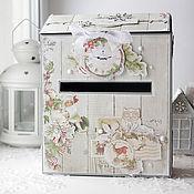 Подарки к праздникам ручной работы. Ярмарка Мастеров - ручная работа Почтовый ящик для писем Деду Морозу. Handmade.