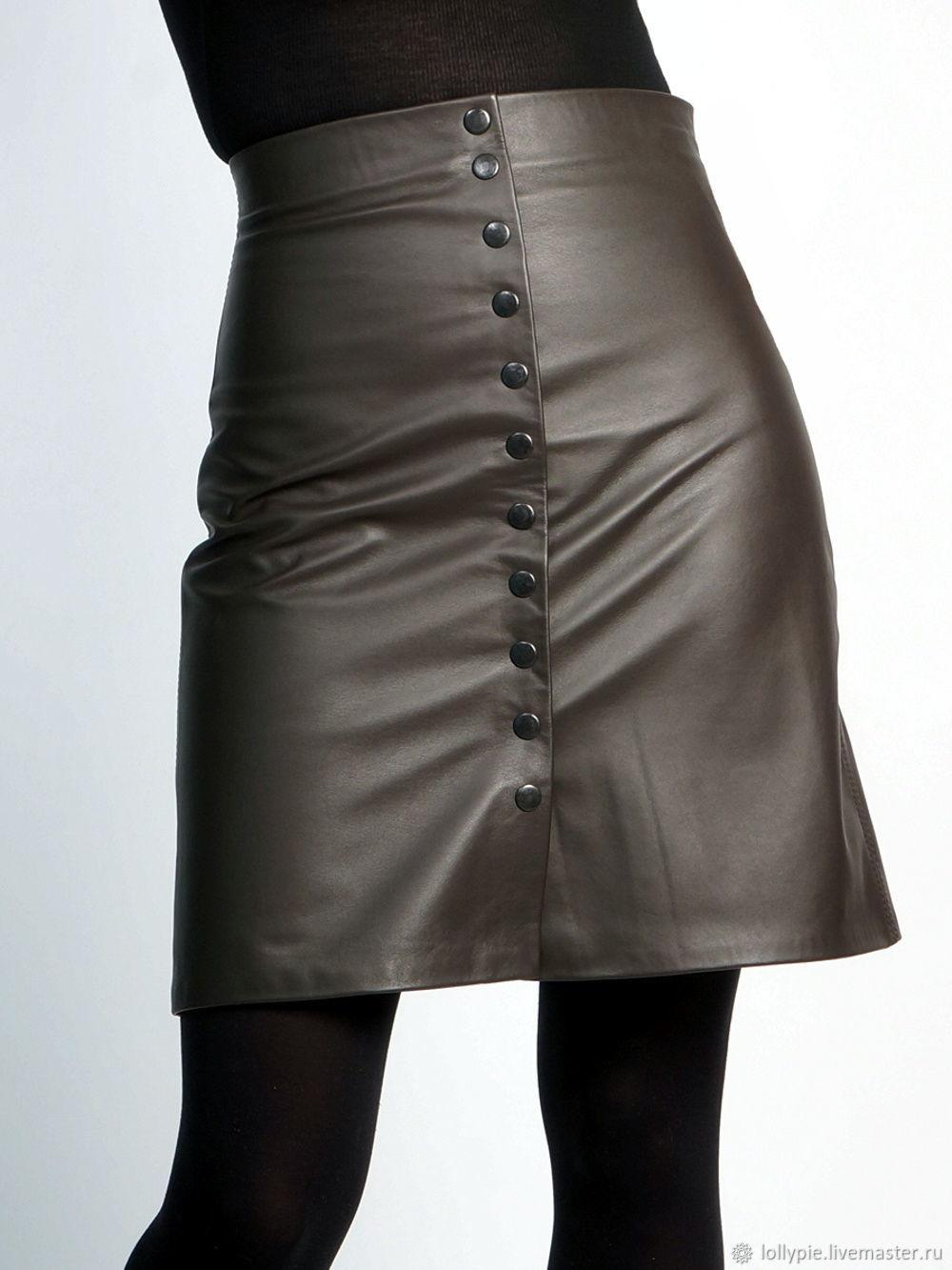 Mini A-line skirt, genuine leather, Skirts, Moscow,  Фото №1