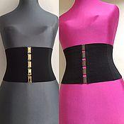 Аксессуары handmade. Livemaster - original item 16cm height elastic corset Black, Woven, great gift. Handmade.