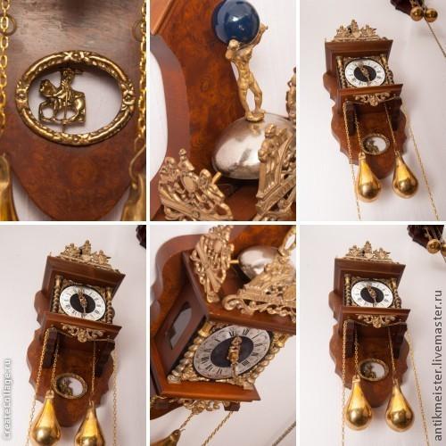 Реставрация. Ярмарка Мастеров - ручная работа. Купить Часы с боем механические настенные полировка тонировка. Handmade. Настенные часы, бронза