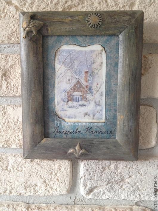 """Пейзаж ручной работы. Ярмарка Мастеров - ручная работа. Купить Картина """"Мой зимний домик"""".. Handmade. Разноцветный, картина акварелью"""