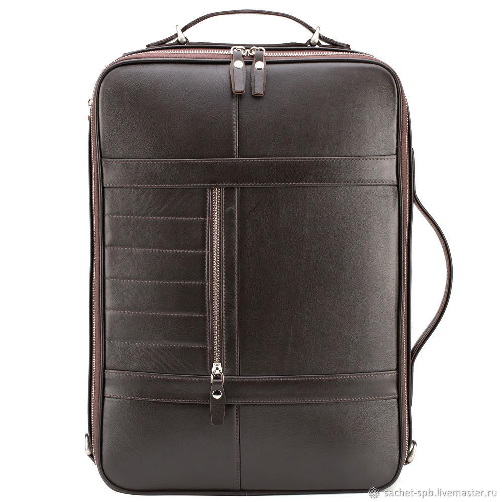 """Кожаный рюкзак-сумка """"Лесснер"""" (коричневый), Backpacks, St. Petersburg,  Фото №1"""