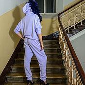 Одежда ручной работы. Ярмарка Мастеров - ручная работа Лавандовый костюм с перьями. Handmade.