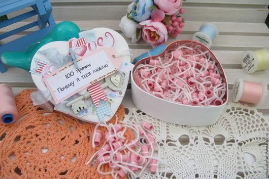 """Подарки для влюбленных ручной работы. Ярмарка Мастеров - ручная работа. Купить Коробка """"100 причин почему я тебя люблю""""  """"С ключом"""". Handmade."""