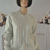 handmade. Livemaster - original item Knitted jacket, ,50-54r., half-wool.. Handmade.