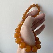 Винтаж handmade. Livemaster - original item Ambroid - amber. Bright necklace beads.. Handmade.