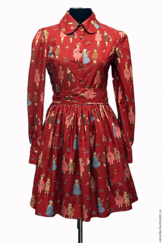 Платья ручной работы. Ярмарка Мастеров - ручная работа. Купить Платье Кукольное. Handmade. Бордовый, винтаж, платье