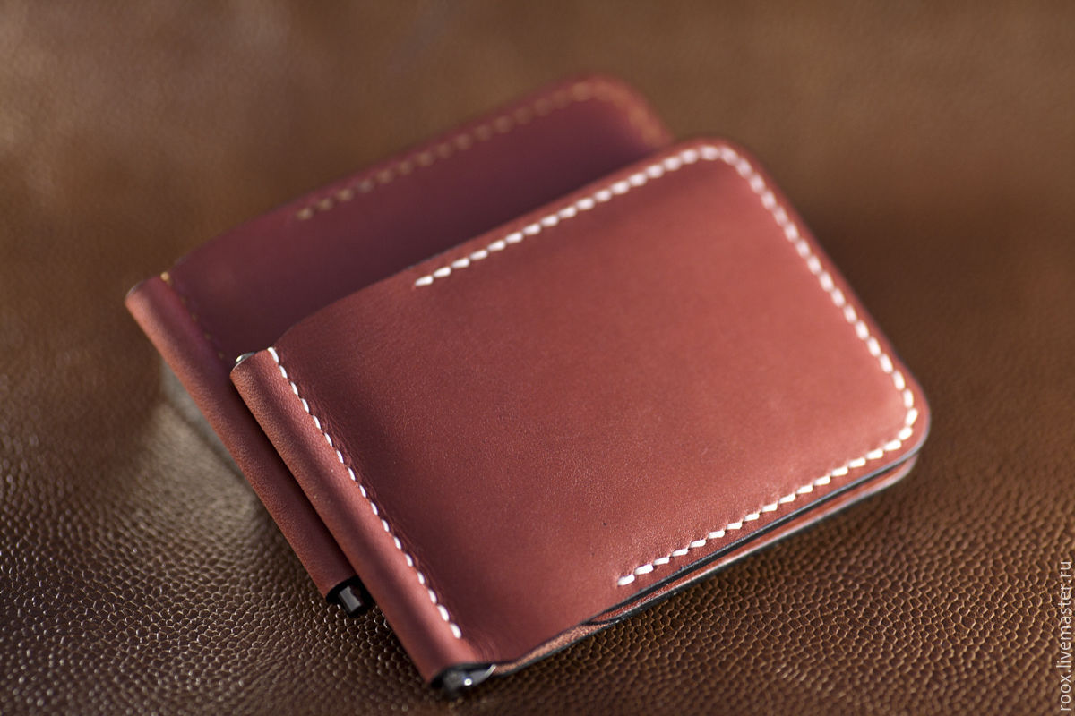 Wallet money clip (Horween leather ), Wallets, Moscow, Фото №1