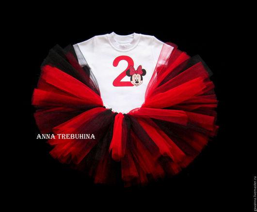 Одежда для девочек, ручной работы. Ярмарка Мастеров - ручная работа. Купить РАСПРОДАЖА -30% от цены!Комплект юбочка/футболка  на 2 года. Handmade.