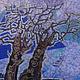 Пейзаж ручной работы. Ярмарка Мастеров - ручная работа. Купить Картина Рассвет выполненная на хб ткани в технике горячего батика. Handmade.