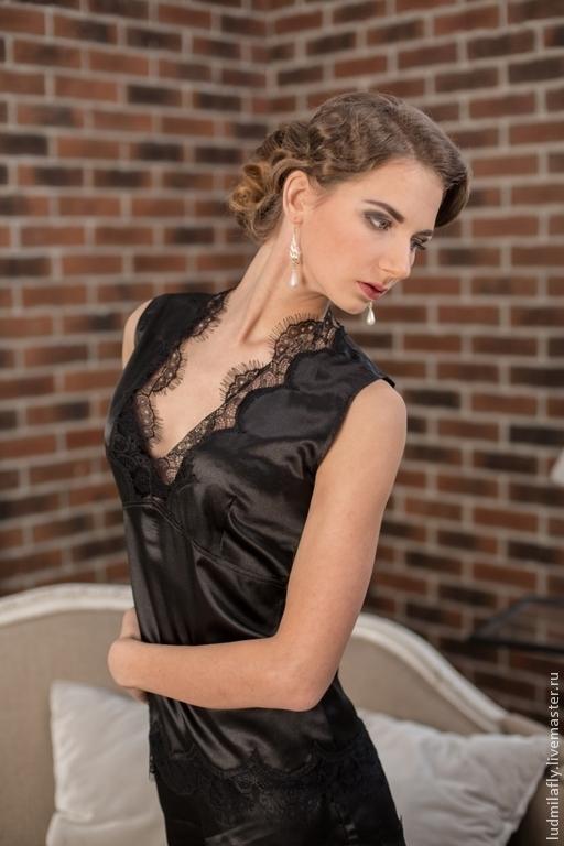 `Она сводит с ума...` - пижамка Малышка в черном цвете. Эксклюзивное белье от Mila Manina Людмила Манина, новая коллекция.