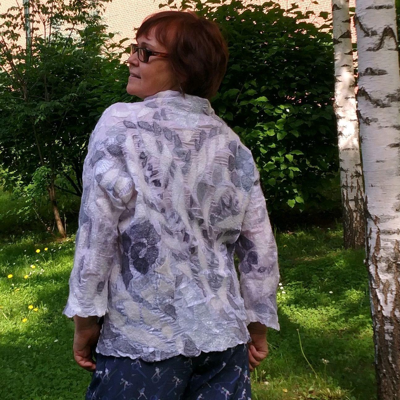Блузон Цветочные облака, Блузки, Раменское,  Фото №1