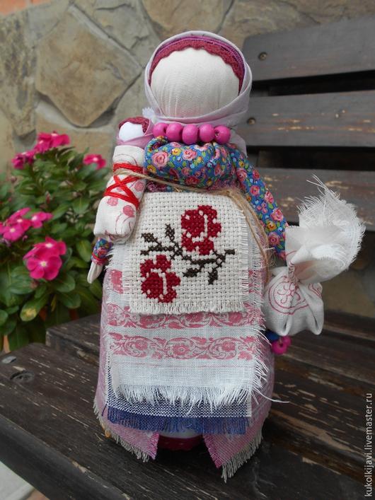 """Народные куклы ручной работы. Ярмарка Мастеров - ручная работа. Купить Кукла народная оберег """"Берегиня дома"""". Handmade. Розовый"""